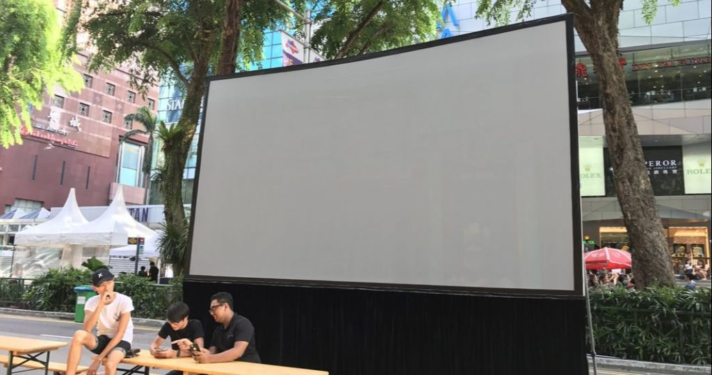 projector screen rental singapore